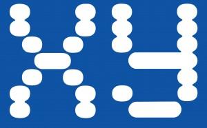 xy logo scottish flag blue